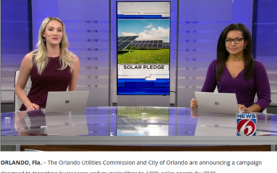 Orlando announces a campaign to move businesses to 100% solar energy by 2030